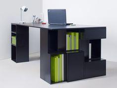 Escritorio de oficina de MDF con estantes Escritorio de oficina con estantes - Cubit by Mymito