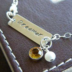 Hand Stamped Bracelet  Personalized Sterling by jessiemccann, $26.00