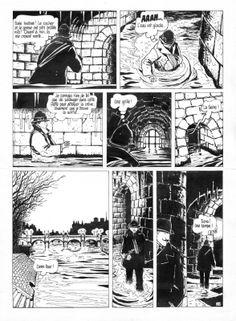 Tardi - Adèle Blanc-Sec - Le démon de la Tour Eiffel par Jacques Tardi - Planche originale