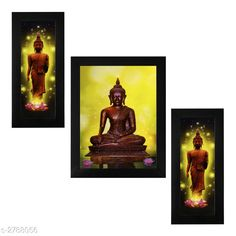 Religious Idols & Paintings Trendy Personal Home Painting Material: Synthetic Size : Frame 1 (L x W) - 6 in x 13 in          Frame 2 (L x W) - 10.2 in x 13 in          Frame 3 (L x W) - 6 in x 13 in Description: It Has 3 Pieces Of Frames With Painting (Glass Is Not Included) Work: Printed Country of Origin: India Sizes Available: Free Size   Catalog Rating: ★4 (346)  Catalog Name: Trendy Personal Home Paintings Vol 1 CatalogID_378367 C128-SC1316 Code: 213-2788056-756