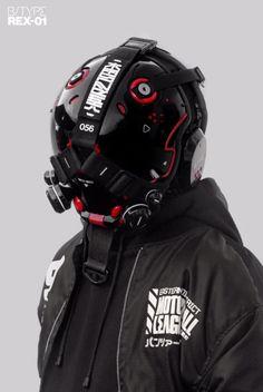"please keep in mind that this is a ""wearable"". Cyberpunk Clothes, Cyberpunk Fashion, Cyberpunk Art, Steampunk Fashion, Gothic Fashion, Helmet Armor, Suit Of Armor, Futuristic Samurai, Arte Robot"