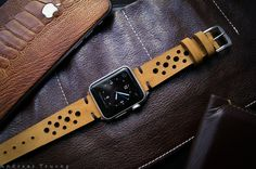 Handmade Rally Racing Sport Band BF24 incl. Lugs Adapter for Apple Watch (or Apple Watch Sport/Space Gray) 42mm or 38mm