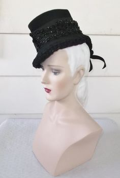 Please like my Facebook Page http://www.facebook.com/MyVintageHatShop for exclusive discounts and promotions.  Wonderful vintage toy tilt hat