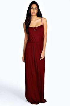 Zoe Strappy Maxi Dress at boohoo.com