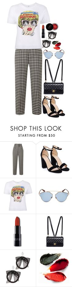 """""""Untitled #2705"""" by seventeene ❤ liked on Polyvore featuring Petar Petrov, Nasty Gal, Christian Dior, Chanel, Fallon, Rituel de Fille and Concrete Minerals"""