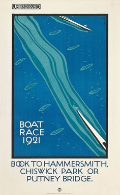 Proving that Art Deco was really Art. A London Underground poster, no less.