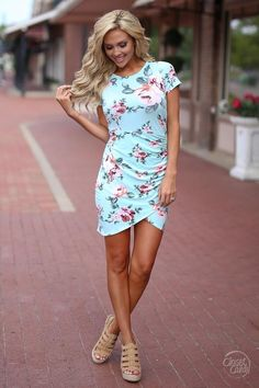 Pretty In Peonies Dress - Mint