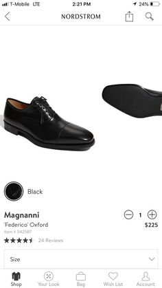 7dfb824b31d Magnanni Men s Black Dress Shoes Size  fashion  clothing  shoes   accessories  mensshoes