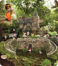 Fairy garden and castle - if I have a house with a little bit of a yard/garden, I'm TOTALLY going to turn it into a fairy village. And that will be the extent of my outside-ness.