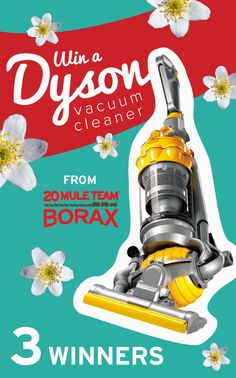 Who'd like to have this Dyson vacuum cleaner for spring cleaning? Repin and enter to win one from @20 Mule Team Borax!