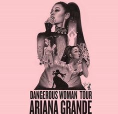 Pink Ariana Grande dangerous woman tour tattoo photo.:).