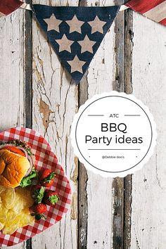 50+ BBQ party ideas - decor, recipes and more Debbiedoos