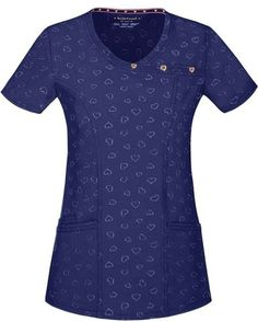 HeartSoul mock wrap scrub top