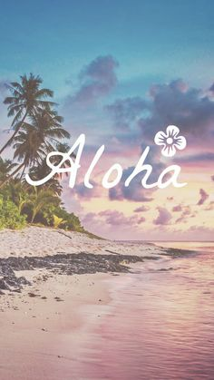 Say Aloha to this beautiful iPhone wallpaper - . - Say Aloha to this beautiful iPhone wallpaper – - Iphone Wallpaper Preppy, Iphone 7 Wallpapers, Wallpaper For Your Phone, Pretty Wallpapers, Cool Wallpaper, Wallpaper Quotes, Wallpaper Backgrounds, Lock Screen Wallpaper, Beachy Wallpaper