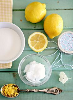 Brighten your skin with a sugar and lemon face scrub.