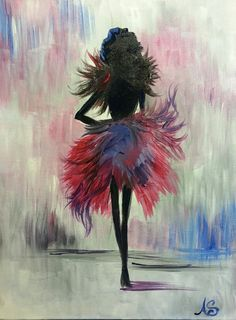 Whatever Lola wants, Lola gets! Painting by  Miami artist, Andrea Soto! #drinkcreatively #paintnite #art #painting