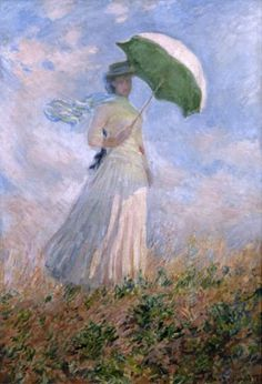Claude Monet - art print, poster - Woman with a Parasol, looking Right