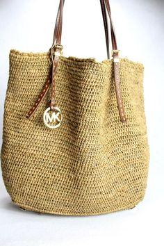 Michael Kors Natural Soft Straw Large Shoulder Tote Bag Purse Beach NWT #MichaelKors #Satcheltotebagshoulderbag