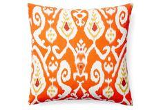 Montebello 20x20 Cotton Pillow, Orange
