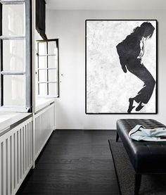 Abstract Painting On Canvas Vertical Painting by FabuArtDecor Love MJ!!