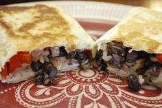Crispy Chicken, Rice and Black Bean Burritos