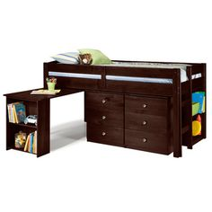 @Overstock.com.com- Napoli Low Loft Twin Bed with 6-drawer Storage/ Bookshelves/ Desk/Featuring tons of great storage options and a pull out desk, the bed is a perfect choice