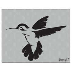 This easy-to-use Hummingbird Small Stencil from is perfect for walls, home decor, clothing and more. Each stencil is cut high quality in order to provide a long lasting design. The possibilities of what you can create with a stencil are endless. Animal Stencil, Bird Stencil, Stencil Patterns, Stencil Designs, Paper Embroidery, Embroidery Patterns, Laser Cut Stencils, Wood Burning Patterns, Detail Art