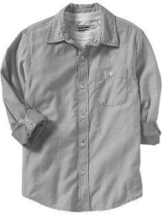 Boys Twill Oxford Shirts