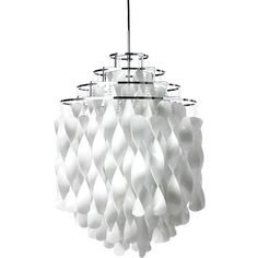 The Pendant Light Spiral SP01 in white, from VerPan, Designed in 1970 by Verner Panton, looks more like a lighting object, than like a normal lamp.