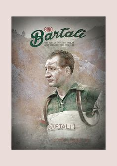 Retro Cycling - Gino Bartali Original graphic poster art designed in The Northern Line studio in Ulverston, Cumbria. We ship worldwide. #cycling #posters #graphicart