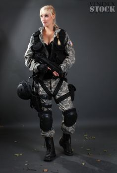 Female Soldier STOCK II by PhelanDavion.deviantart.com on @deviantART