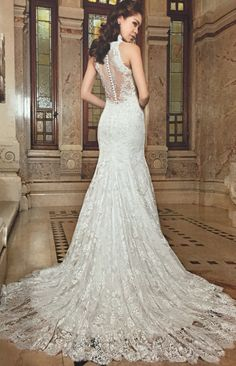 Demetrios: Lace; Ivory and White