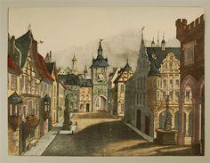 [Neue Decorationen für Kindertheater. Stadt. Hintergrund. Nr. 119.]