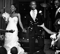 The Confetti shot  Black British wedding  Afro-Caribbean wedding