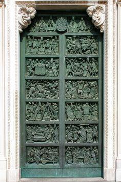 Milan Dome stock image Cool Doors, Unique Doors, Flower Images, Closed Doors, Doorway, Milan, Exotic, Garage Doors, Stock Photos