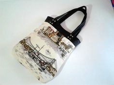 WATERPROOFTote Bag Istanbul Printed Fabric  Canvas and by hibbe, $55.00