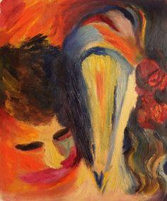 Buy Kiss, Oil painting by Geeta Biswas on Artfinder. #kiss #abstractart #couples #oilpainting #artcollector #artmarket #artgallery #collectors #decor #under$200 #artforsale #interiordesign