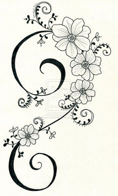 Tattoo design 3 by . on - Tattoo design 3 by Mo. Flower Tattoo Designs, Flower Tattoos, Deviantart Tattoo, Tattoo Muster, Flower Art Drawing, Hand Embroidery Patterns, Fabric Painting, Tattoo Drawings, 3 Tattoo