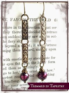 "Earrings Everyday ""Trimmed in Tapestry"" earrings by Erin Prais-Hintz"