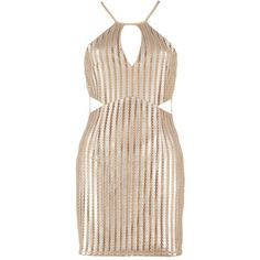 Boohoo Petite Alex Metallic Keyhole Detail Bodycon Dress (135 MAD) ❤ liked on Polyvore featuring dresses, pink metallic dress, pink bodycon dress, body conscious dress, boohoo dresses and body con dresses