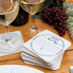 Advice for the Mr and Mrs Wedding Drink Coasters - Set of 25  #wedding #coasters