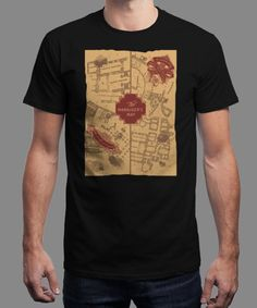 """A magical map"" is today's £9/€11/$12 tee for 24 hours only on www.Qwertee.com Pin this for a chance to win a FREE TEE this weekend. Follow us on pinterest.com/qwertee for a second! Thanks:)"