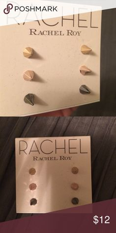 Rachel Roy set of 3 studded earrings Rachel Roy set of three studded earrings RACHEL Rachel Roy Jewelry Earrings