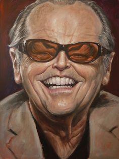 Caricature of Jack Nicholson (Artist: Derren Brown) Cartoon Faces, Funny Faces, Cartoon Art, Caricature Artist, Caricature Drawing, Funny Caricatures, Celebrity Caricatures, Portrait Au Crayon, Famous Cartoons