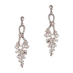 You'll feel like a princess, adorned in the endless sparkle of the Celeste earrings. These two-drop hematite stunners feature cascading clusters of CZ's. This whimsical design will add glam and flair to any look.  Find it on Splendor Designs