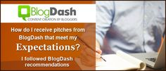 "Getting pitches. In this post, you will find out how to make your profile ""pitchable"" in BlogDash and getting pitches. Enter now and take a look!"