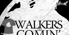 T-shirts - Design: Walkers are comin' - by: Boggs Nicolas