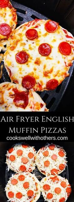 Air Fryer English Muffin Pizzas Air Fryer English Muffin PizzasYou can find Airfryer and more on our website.Air Fryer English Muffin Pizzas Air Fryer English Muffin P. Air Fryer Oven Recipes, Air Fryer Dinner Recipes, English Muffin Pizza, English Food, English Recipes, French Recipes, Italian Recipes, English English, Mini Pizza