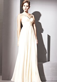 Apricot Halter Sexy Prom Formal Ball Long Evening Dress
