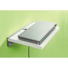 "Sumo 45"" White Wall Shelf Media Shelf + Cube Shelf Bracket Set"